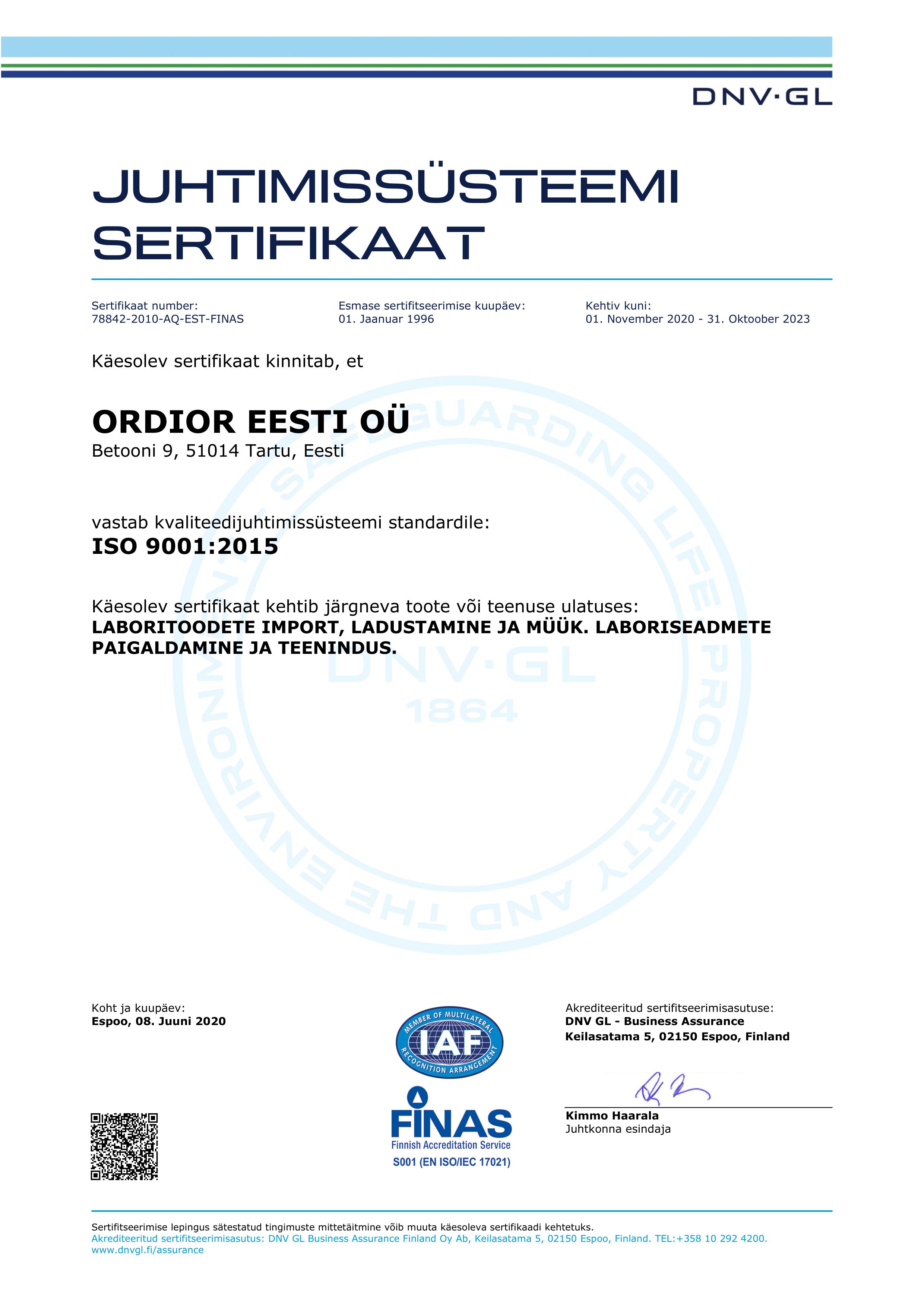ISO sert 2020